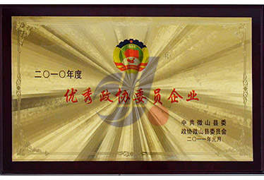 2011年县委政府委员会授予''优秀政协委员企业''
